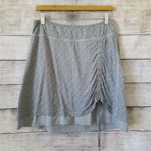 Athleta Crossroads Burnout Gray Skirt Large